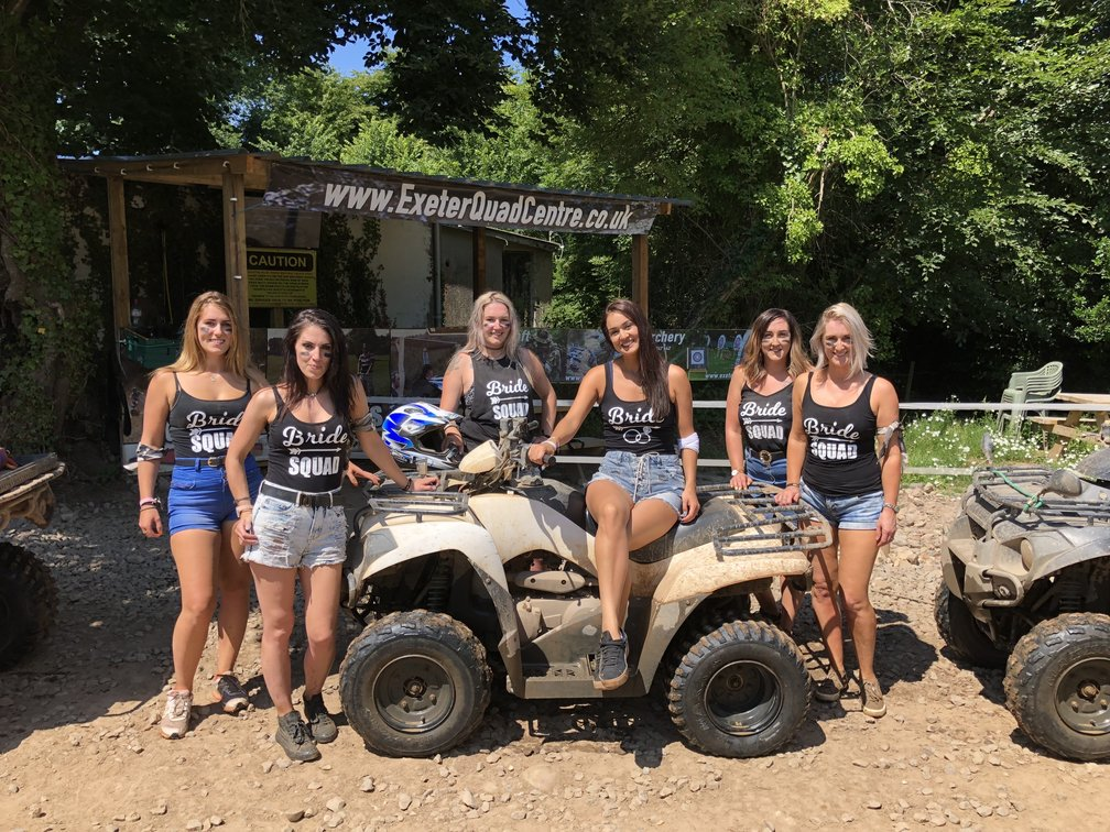 Hen party quad biking exeter devon